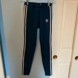 Navy Blue Adidas Leggings XS